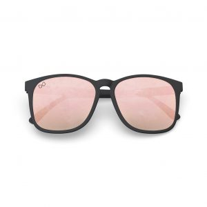 Mariener Mana Rubber Matte Black Zwart Rose Gold Oversized Round Sunglasses
